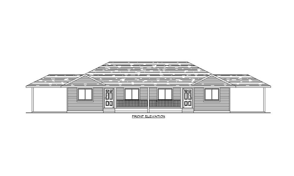 Multi family 1218 unit home plans by harmony homes - Multi unit house plans family friends ...