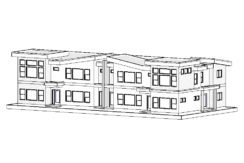 Multi Family – 4 Plex – 1584,1510,1510,1544 sq.ft.